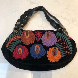 LUCKY BRAND Hobo Embroidered Handbag